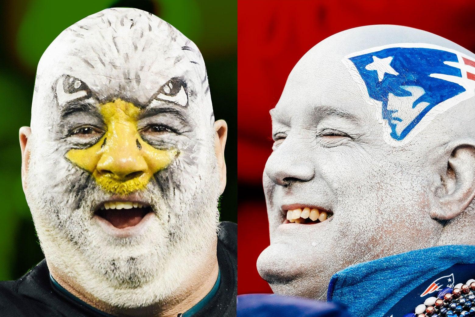 Philadelphia Eagles fan and New England Patriots fan.