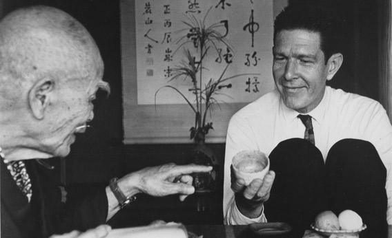 John Cage meets D.T. Suzuki in 1962.