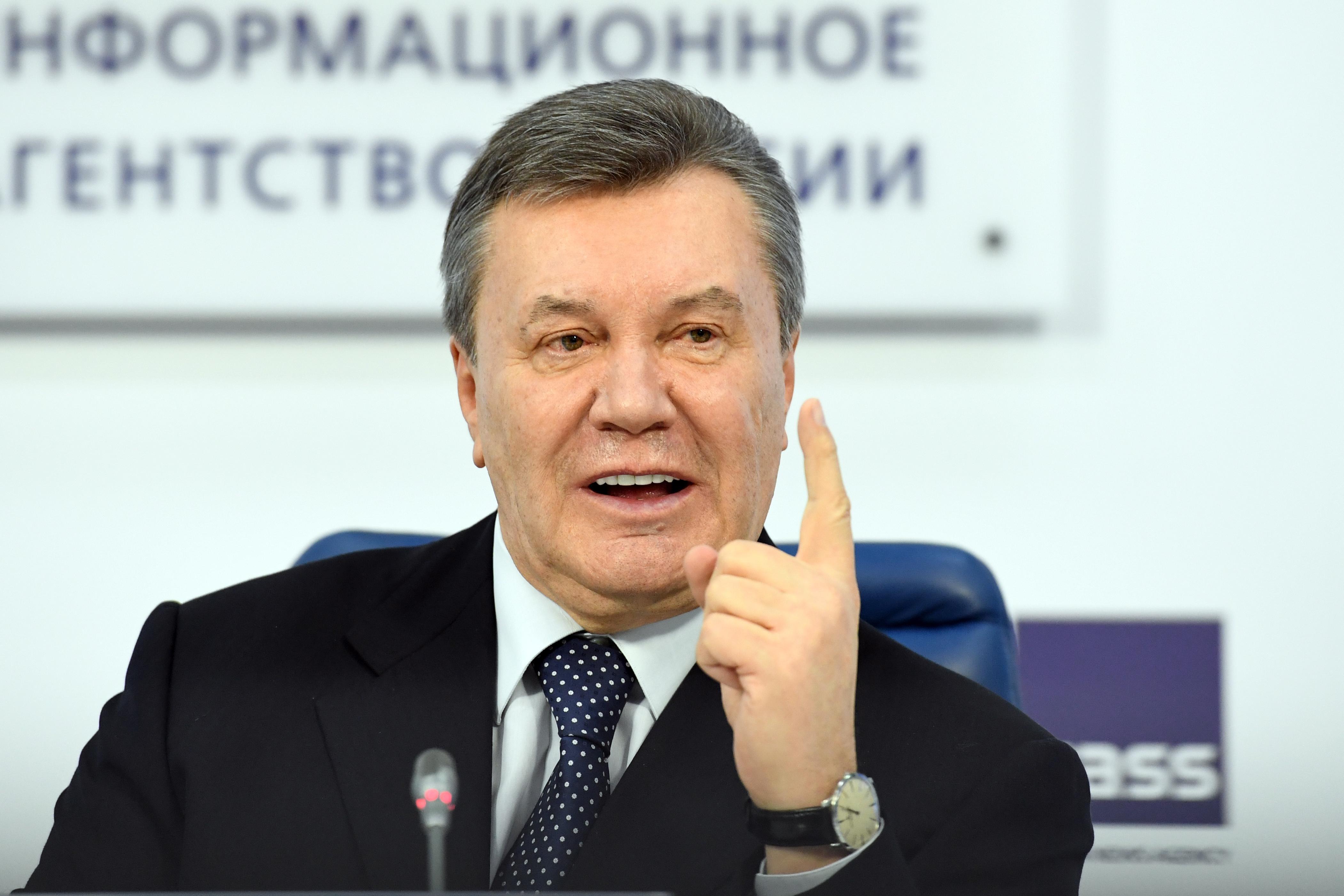 Ukraine's former president Viktor Yanukovych in Moscow.