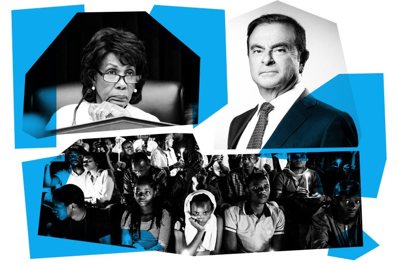 Maxine Waters, Carlos Ghosn, and a vigil.