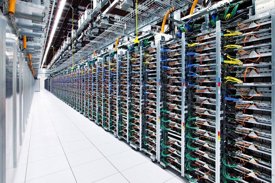 A glimpse into Google's data centers.