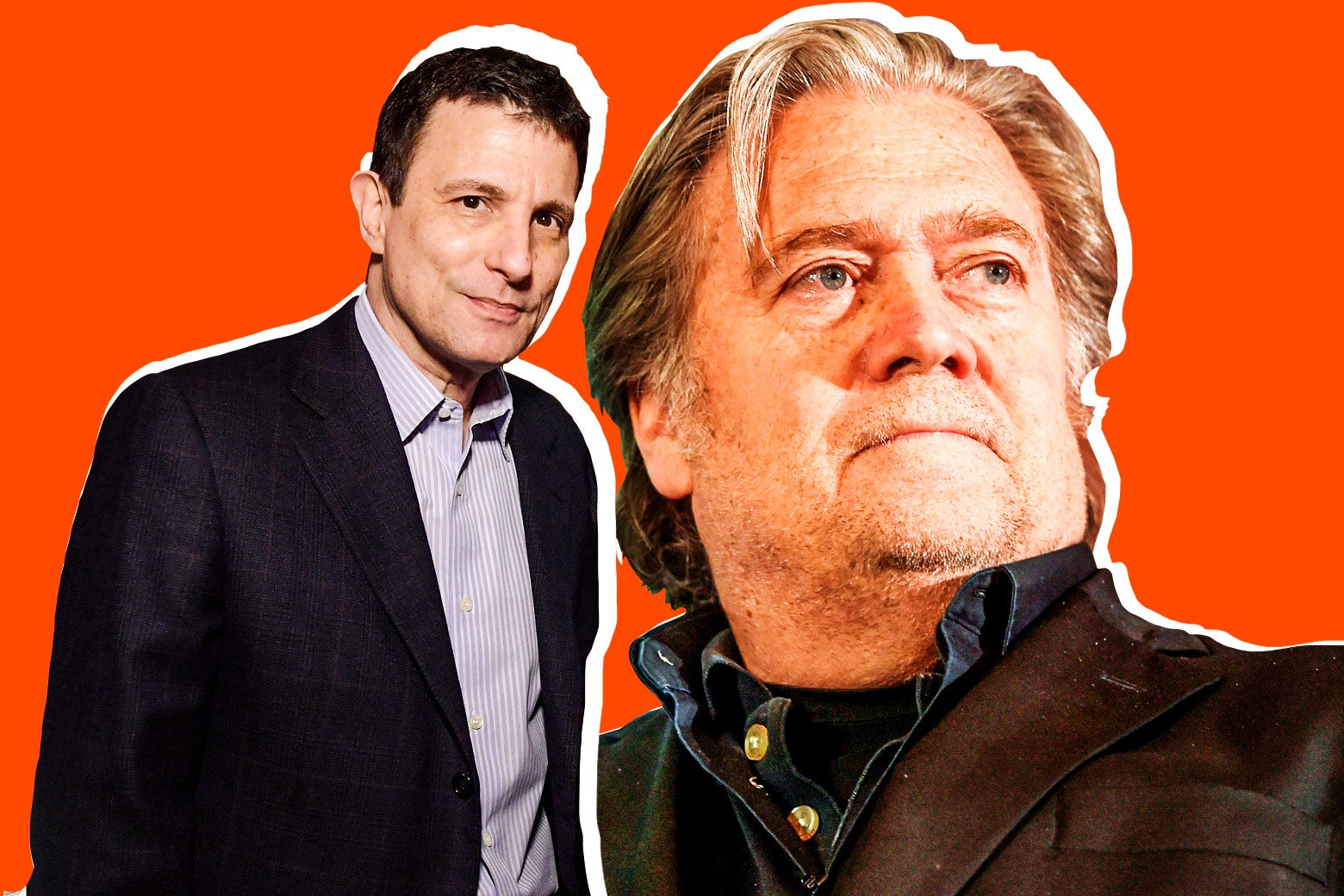 David Remnick and Steve Bannon.