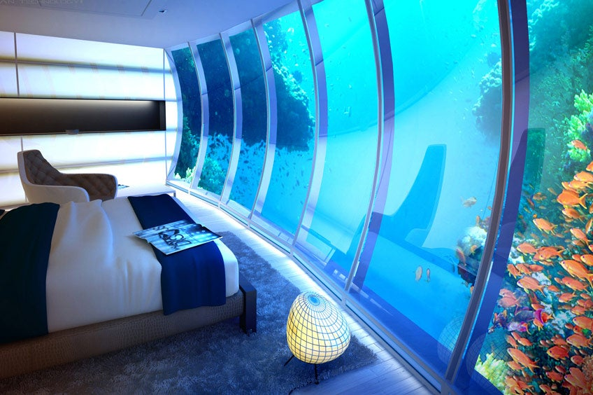 Underwater Hotel Room At Night Throughout 50000anight Underwater Hotel Room In The Maldives Shows How Oblivious We Are To Climate Change 50000anight Underwater Hotel Room Shows How