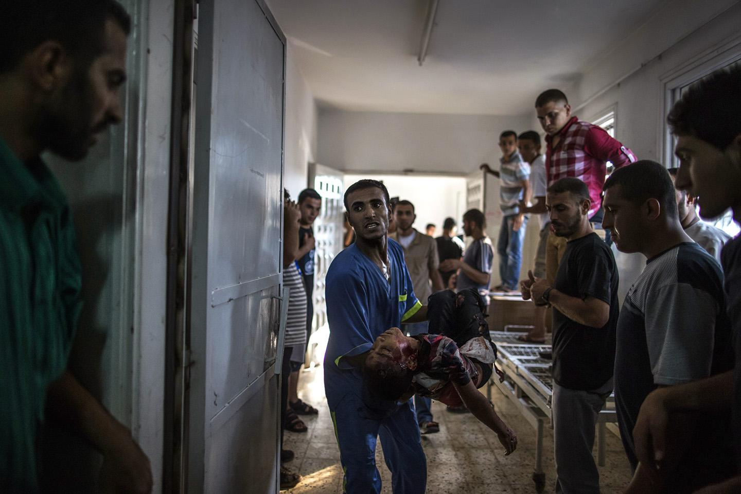 death of at least seven Palestinian children on air strikes launched by the Israeli military.