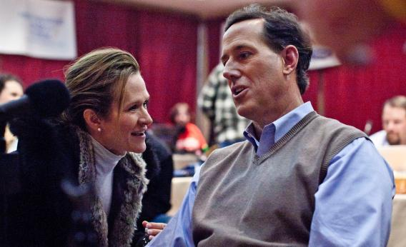 Karen and Rick Santorum.