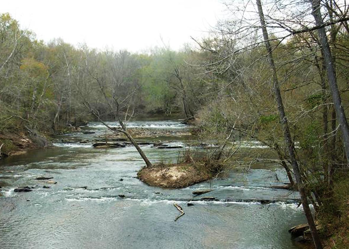 Saugahatchee Creek in Opelika, Alabama.