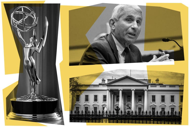 An Emmy award, Anthony Fauci, and the White House.
