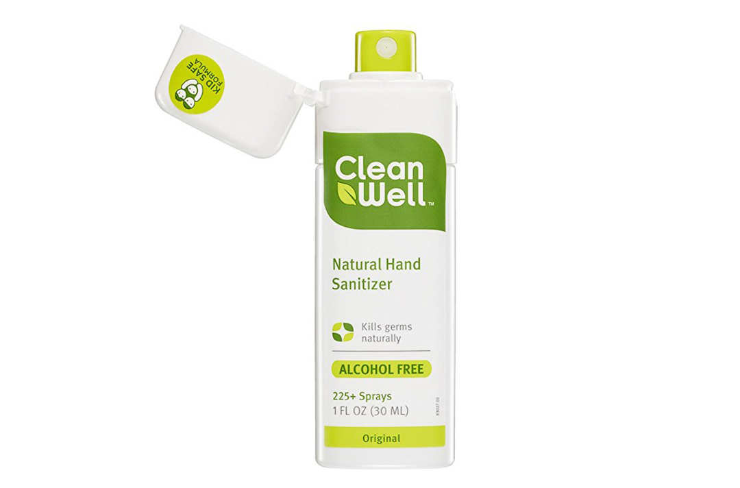Cleanwell hand sanitizer spray bottle.