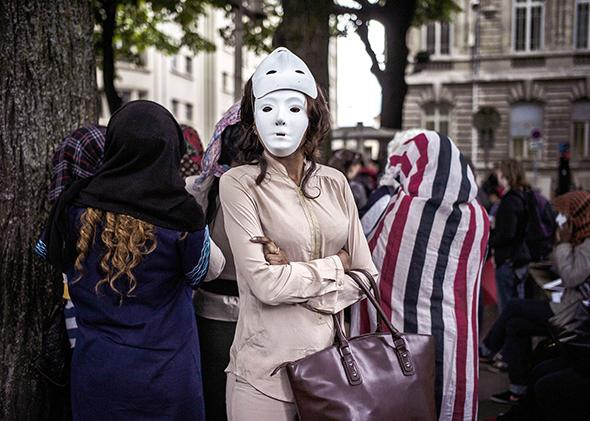Prostitutes protest in Lyon, France