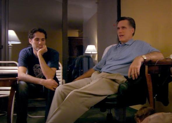Mitt Romney, right, and his son, Craig Romney in Netflix's original documentary, Mitt.