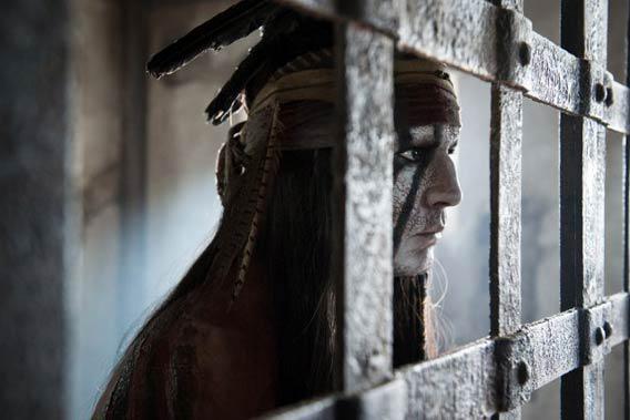 Johnny Depp in The Lone Ranger.