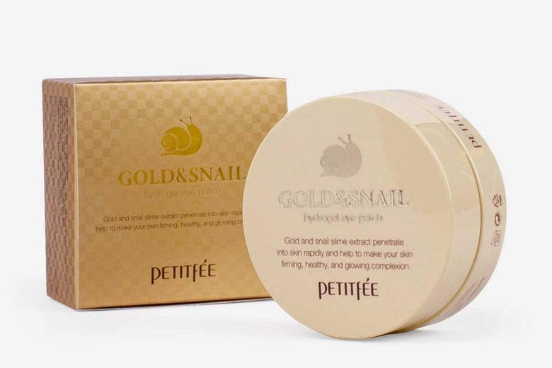 Petitfée Gold & Snail Hydrogel Eye Patches.