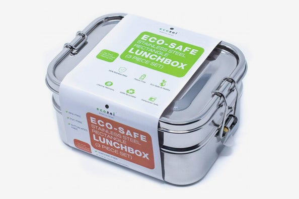 Ecozoi Stainless Steel 3-in-1 Leak Proof Lunch Box.