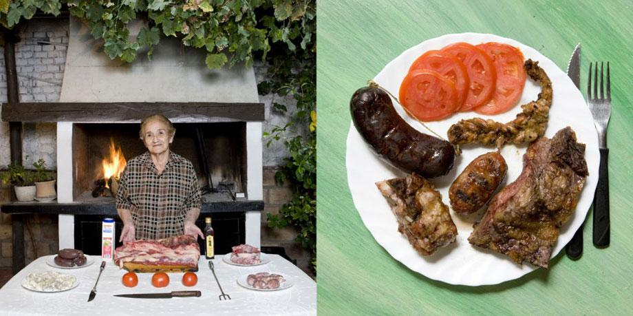 "Isolina Perez De Vargas, 83 years old – €"" Mendoza, Argentina- Asado Criollo (mixed meats barbecue)"