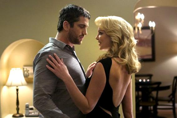 Katherine Heigl and Gerard Butler in The Ugly Truth.