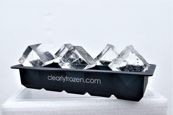 ClearlyFrozen High Capacity Home Clear Ice Cube Tray Ice Cube Maker