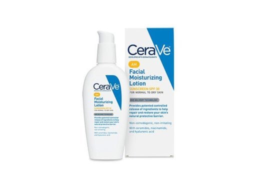 CeraVe AM Face Moisturizer With Sunscreen.