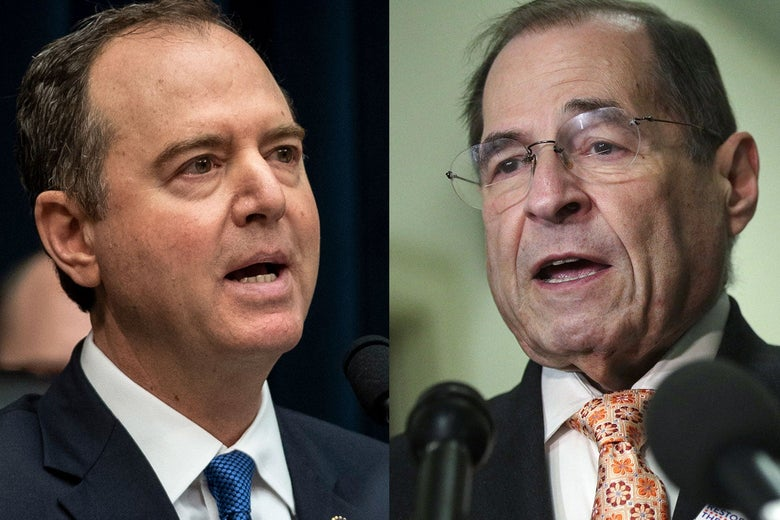 Side by side closeups of Schiff and Nadler.