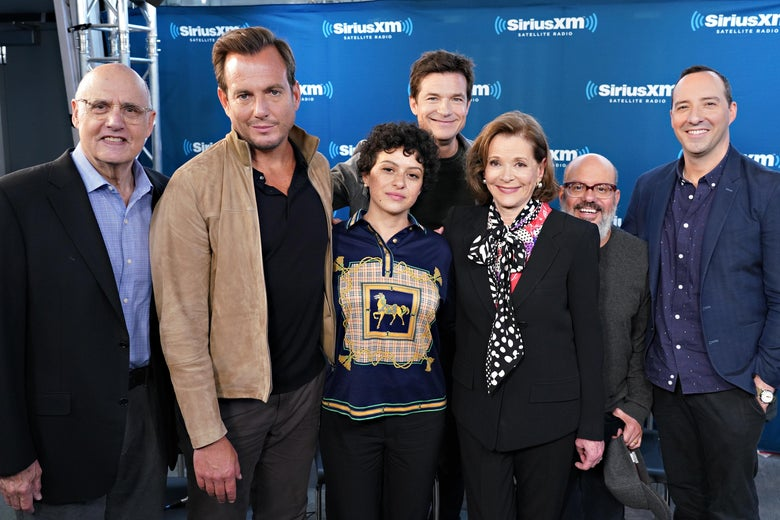 The cast of Arrested Development at a SiriusXM event in New York.