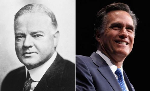 Herbert Hoover and Mitt Romney.