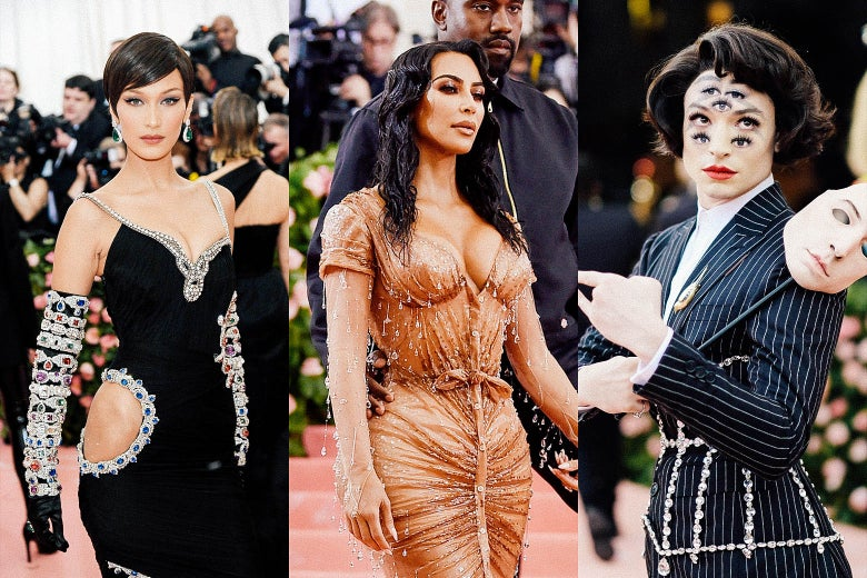 Bella Hadid, Kim Kardashian West and Kanye West, and Ezra Miller.