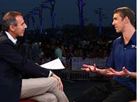 Matt Lauer and Michael Phelps. Click image to expand.