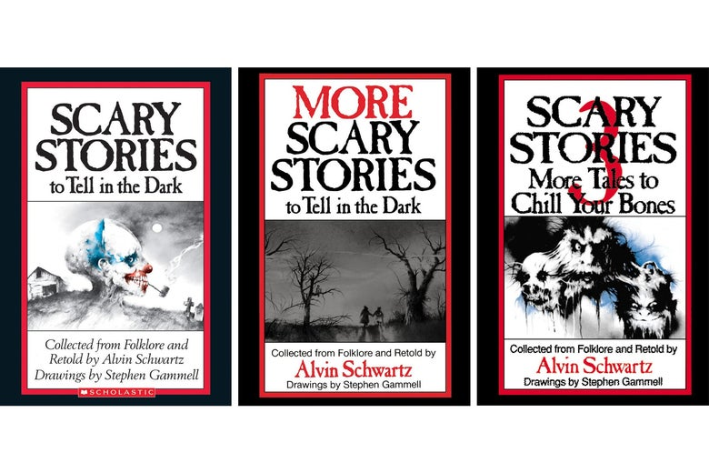 Scary Stories book covers