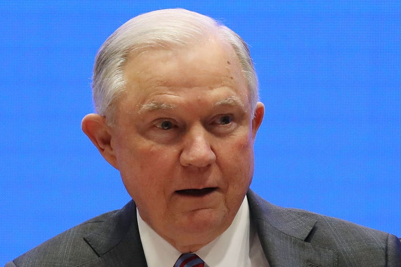 Attorney general Jeff Sessions in Doral, Florida on Feb. 8.
