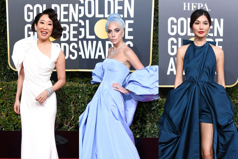Sandra Oh, Lady Gaga, and Gemma Chan at the 2019 Golden Globes.