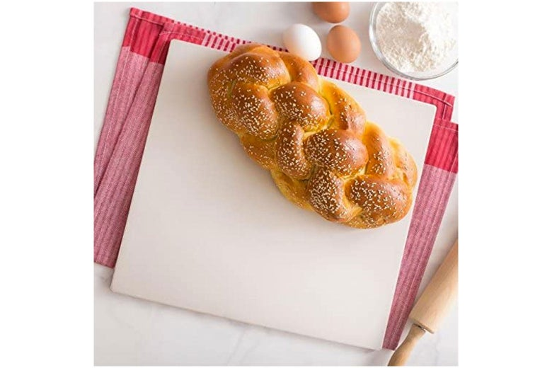 Challah on a baking stone