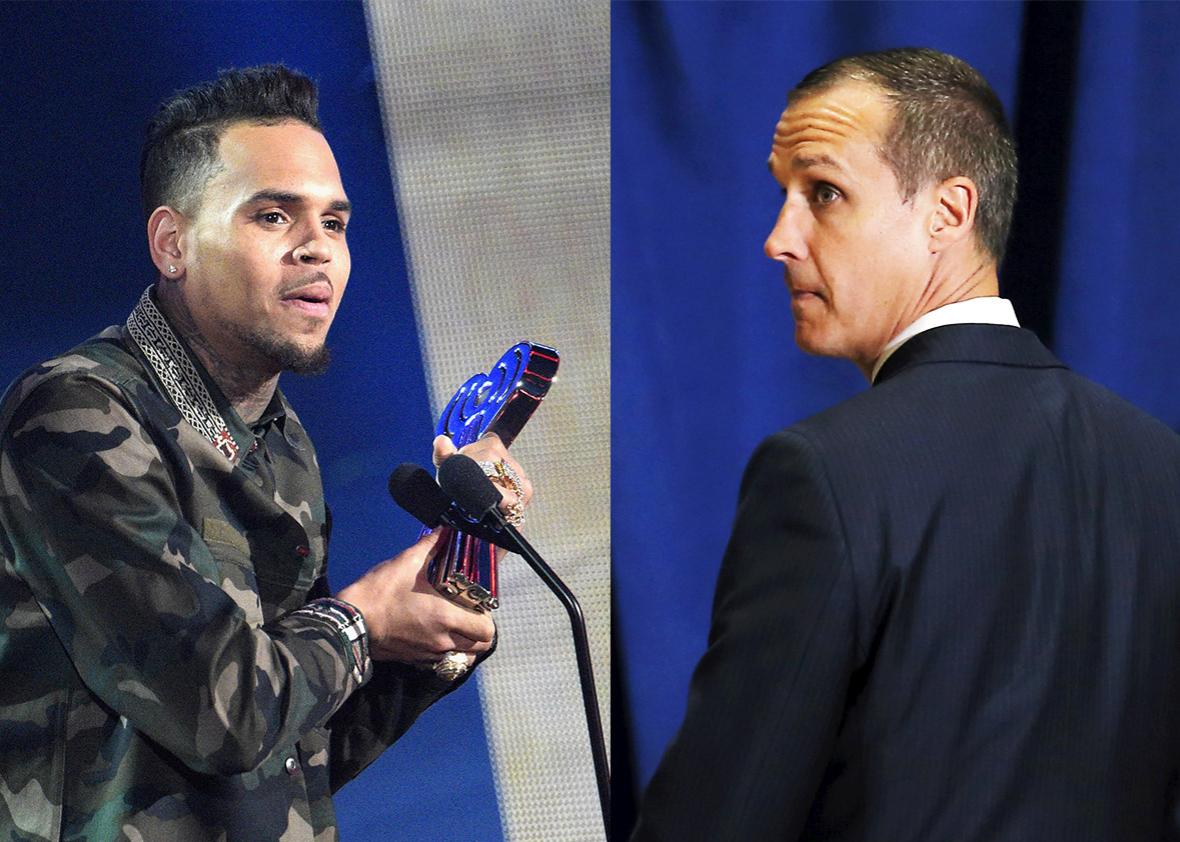 Chris Brown and Corey Lewandowski.