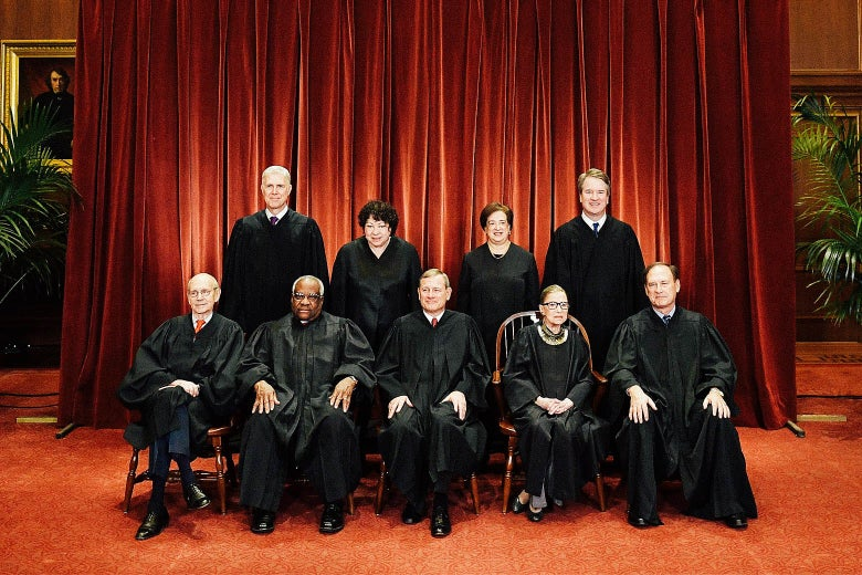 The justices of the Supreme Court