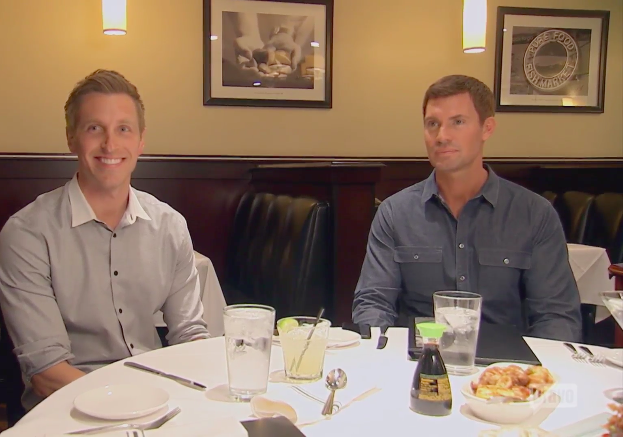 Gage Edwards and Jeff Lewis at dinner together.