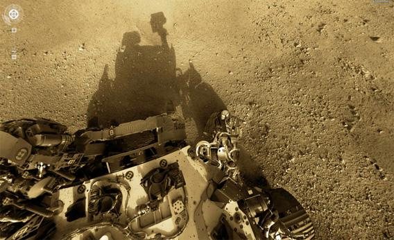 Self portrait of NASA's Mars rover Curiosity.