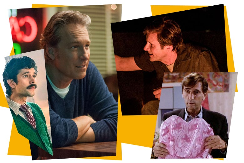 Collage of single dads in movies