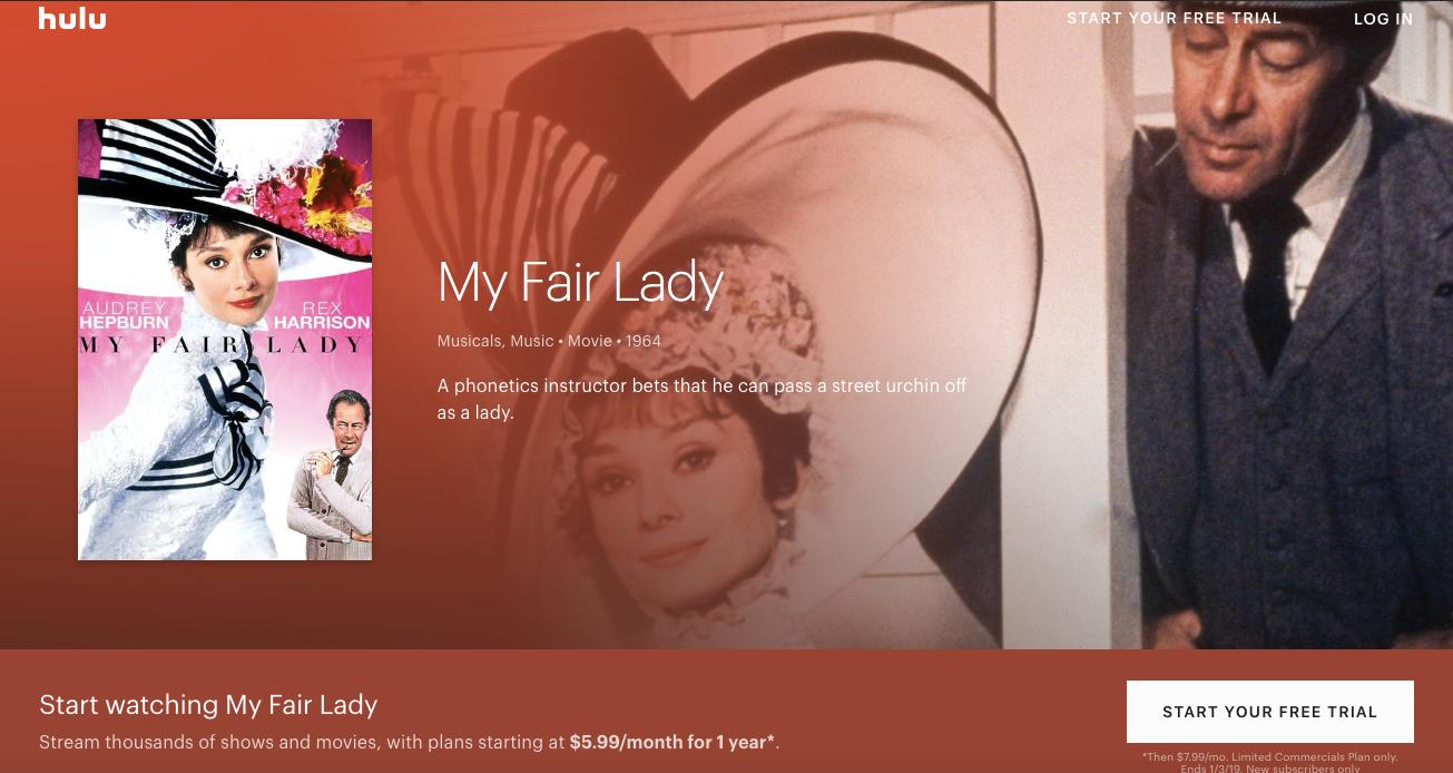 """Start watching My Fair Lady!"""