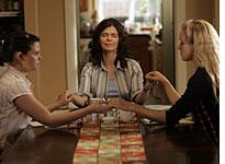 Ginnifer Goodwin, Jeanne Tripplehorn, and Chloë Sevigny in HBO's Big Love. Click image to expand.