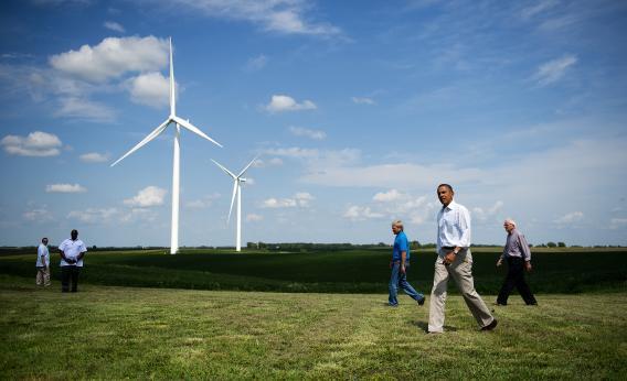Barack Obama wind jobs