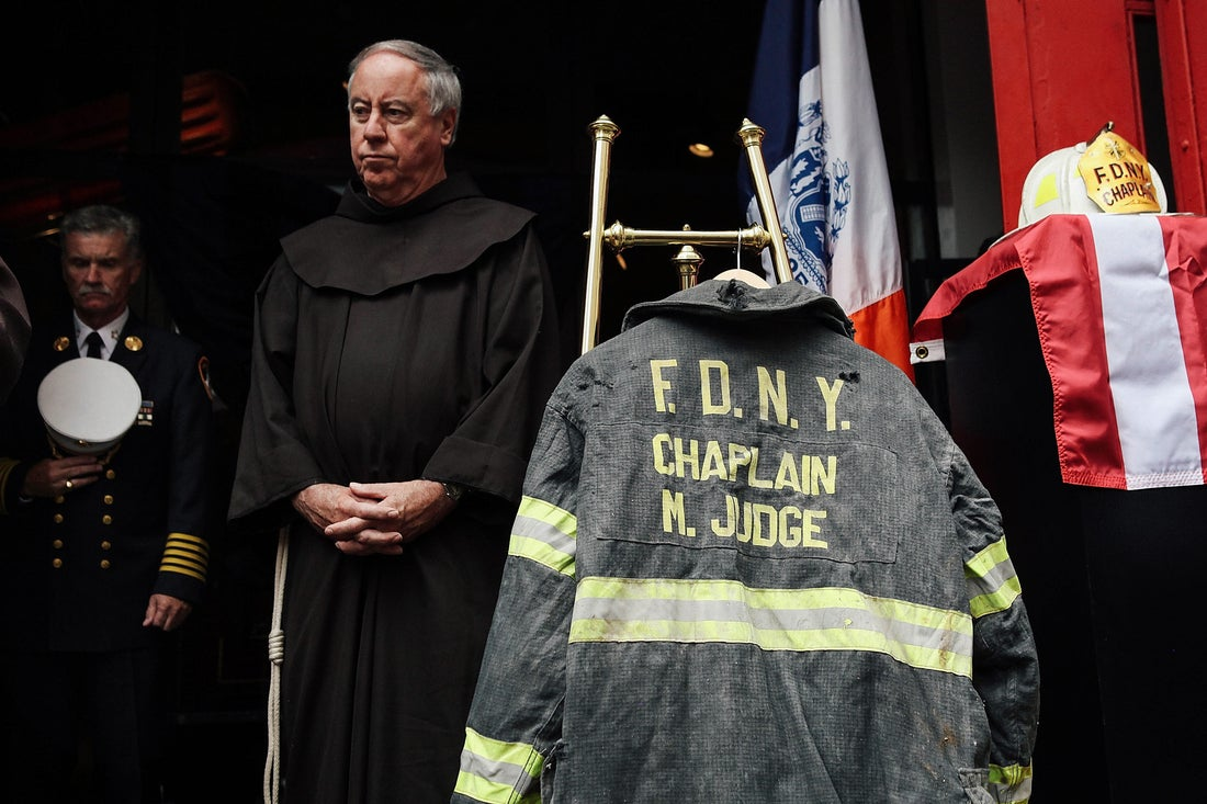 FDNY chaplain Mychal Judge memorial service