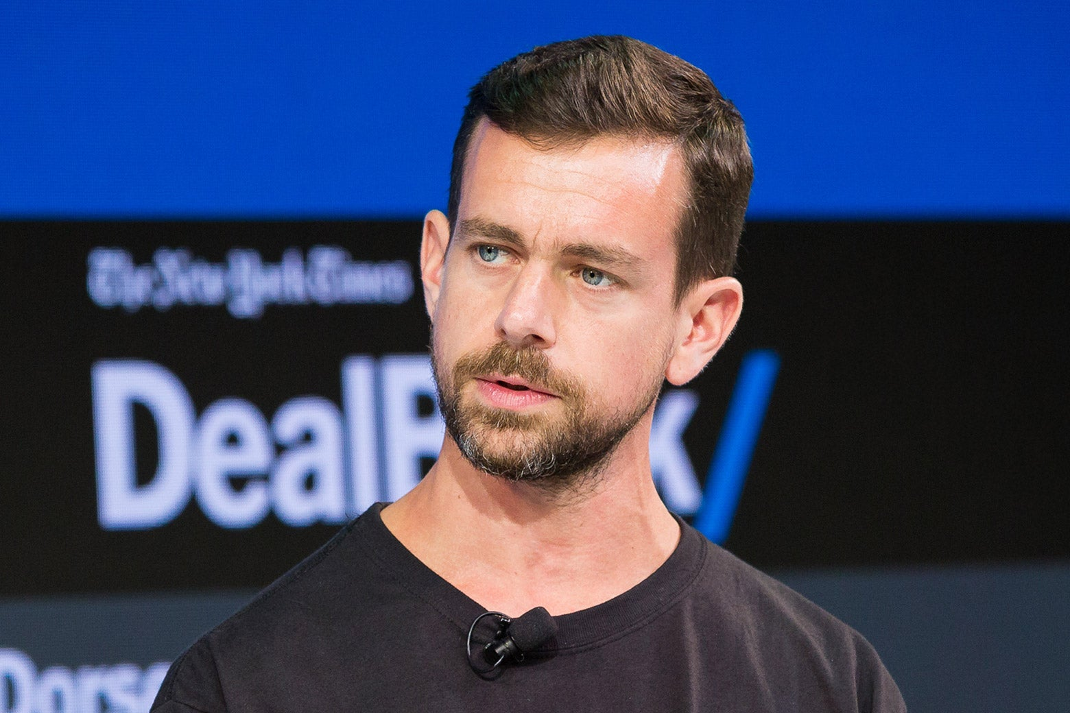 Jack Dorsey speaks during the New York Times 2017 DealBook Conference on Nov. 9.