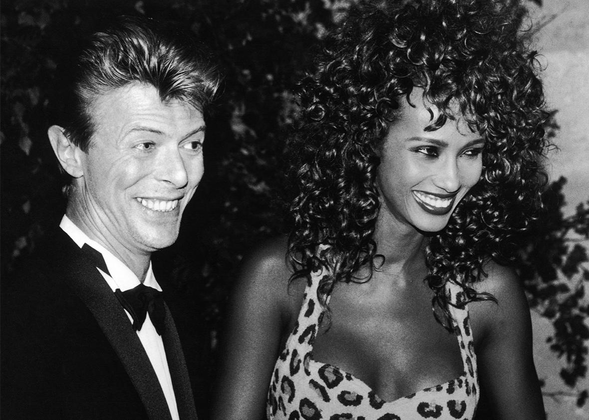 David Bowie and Iman 1991