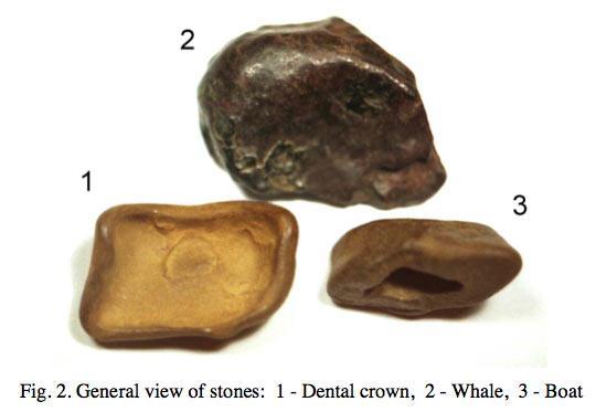 Three stones found by Zlobin