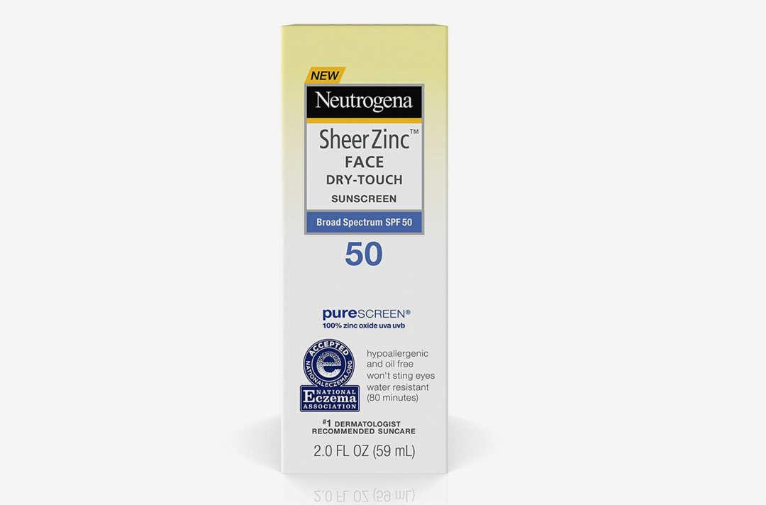 Neutrogena Sheer Zinc Face Dry-Touch Sunscreen.