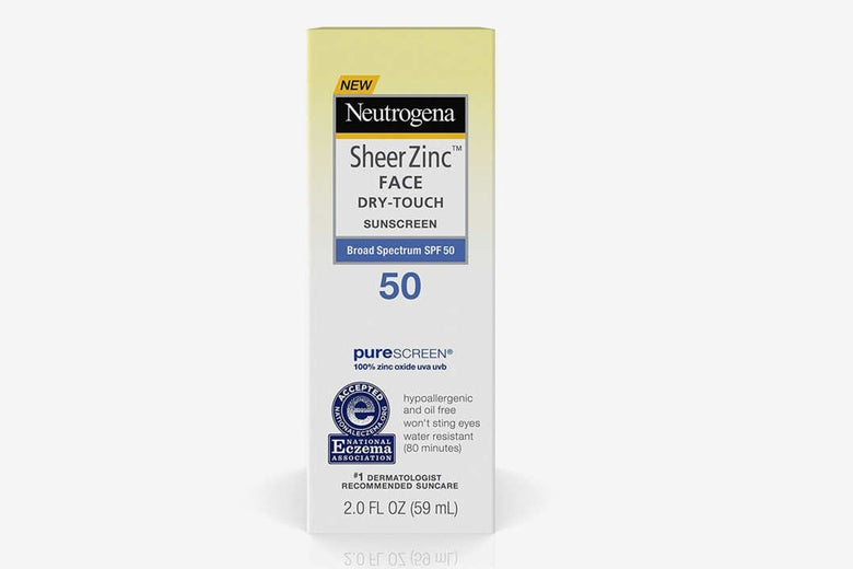 Neutrogena Sheer Zinc Face Dry-Touch Sunscreen.