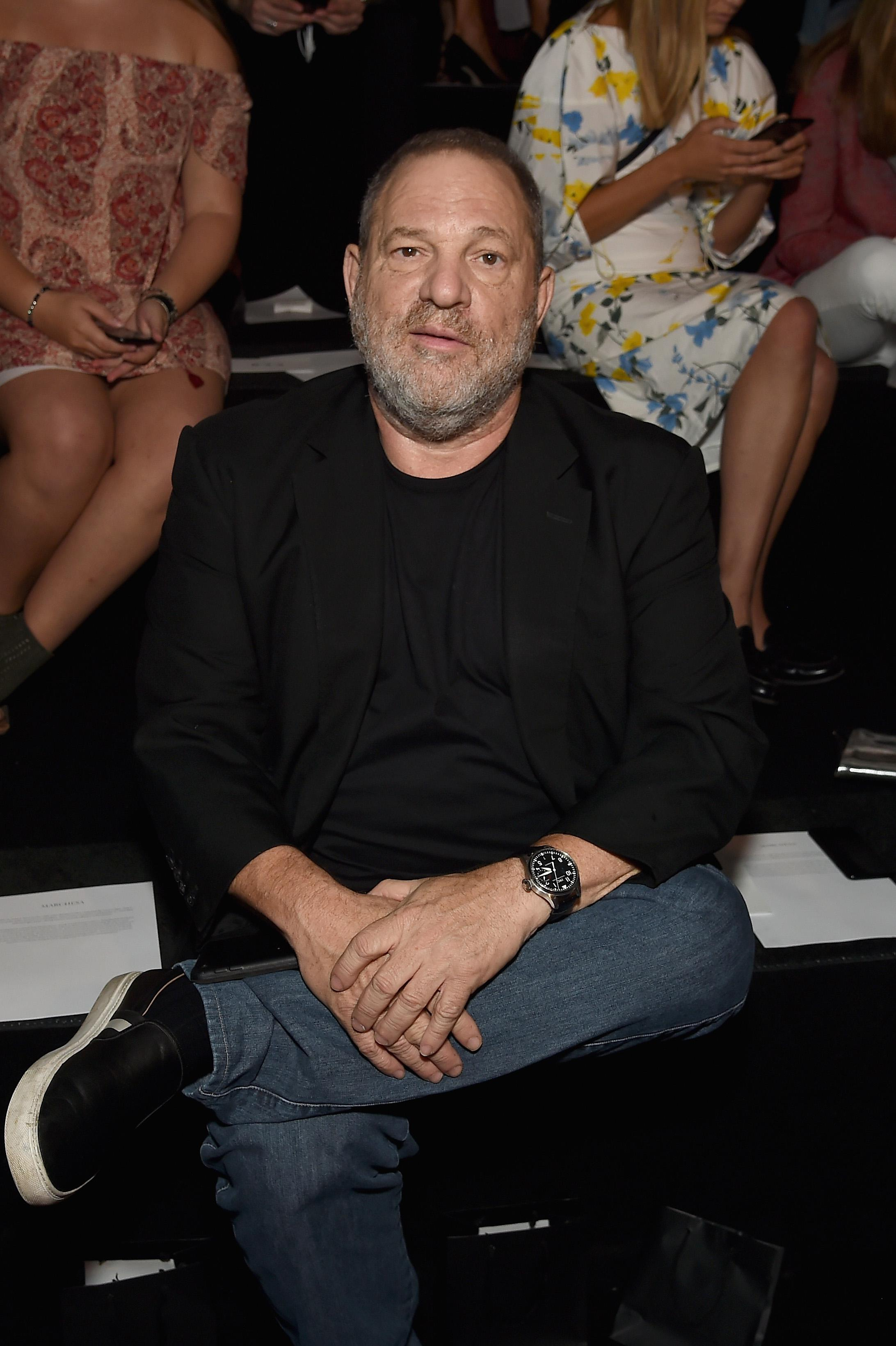 NEW YORK, NY - SEPTEMBER 13:  Producer Harvey Weinstein attends the Marchesa fashion show during New York Fashion Week: The Shows at Gallery 1, Skylight Clarkson Sq on September 13, 2017 in New York City.  (Photo by Nicholas Hunt/Getty Images For NYFW: The Shows)