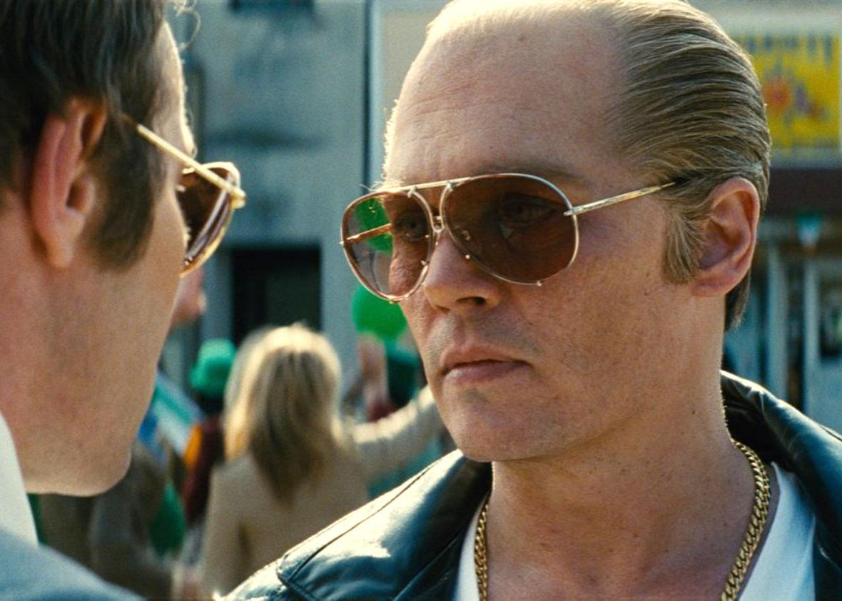 Johnny Depp in Black Mass.