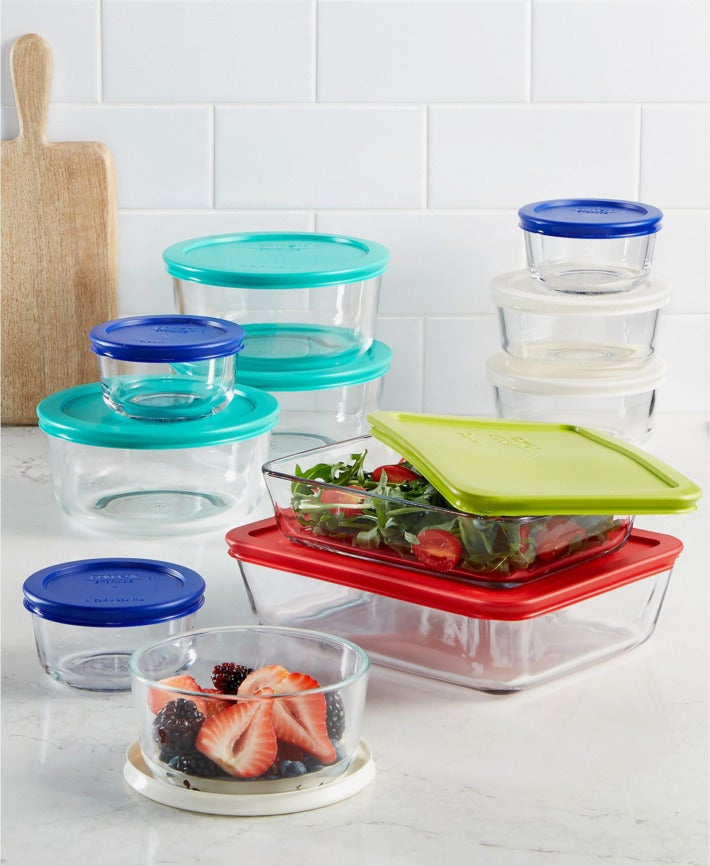 Pyrex 22-Piece Food Storage Container Set.