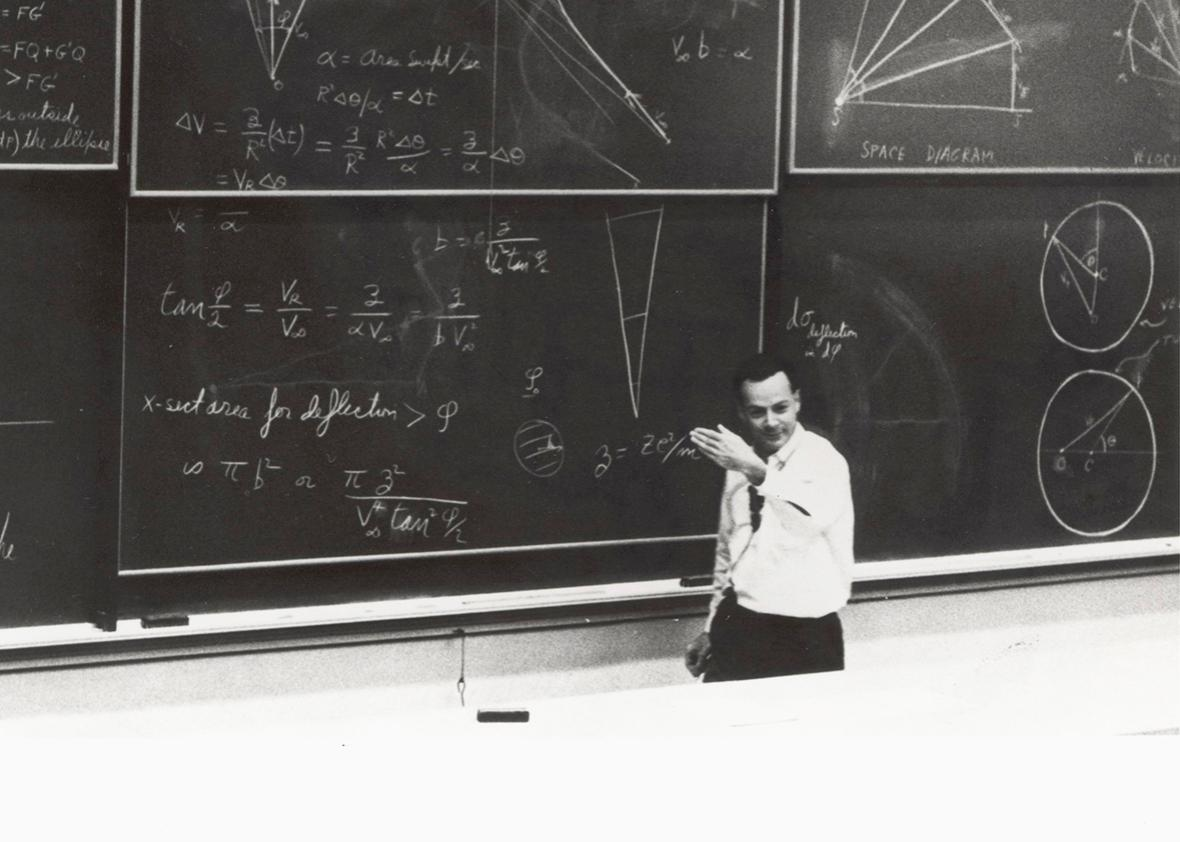 Dr. Richard Feyman during the Special Lecture: the Motion of Planets Around the Sun on March 13, 1964.