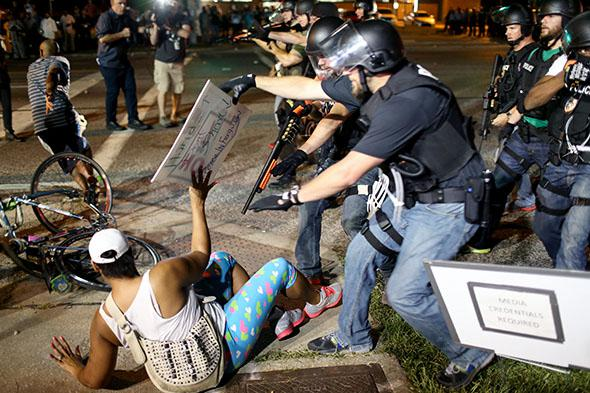 August 18, 2014: Ferguson, Missouri.