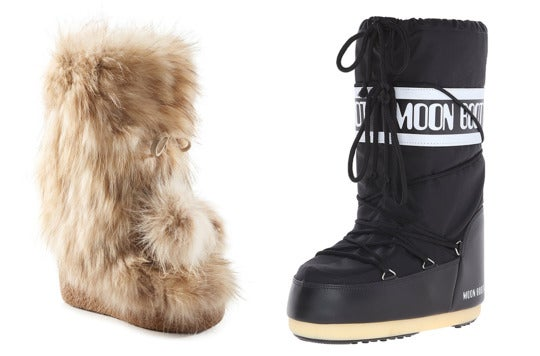 Fur boot and snow boot.